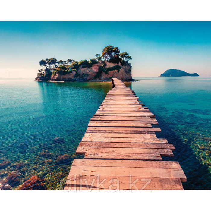 Фотобаннер, 250 × 200 см, с фотопечатью, люверсы шаг 1 м, «Дорога в море»