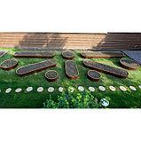 Грядка овальная, 250 × 100 × 35 см, коричневая, фото 2