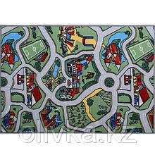 Палас «Лунапарк», 120х100 см, зелёный