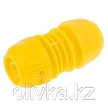 """Муфта-соединитель, 1/2"""" (12 мм) – 1/2"""" (12 мм), цанга, ABS-пластик"""