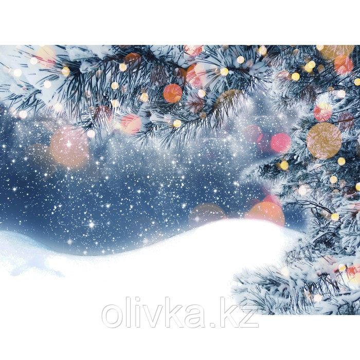 Фотобаннер, 250 × 200 см, с фотопечатью, люверсы шаг 1 м, «Снег»