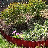 Ограждение для клумбы, 110 × 24 см, оранжевое, «Волна», Greengo, фото 2