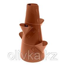 Клумба конусная, d = 10–30 см, h = 60 см, коричневая