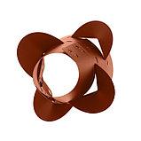 Клумба конусная, d = 10–30 см, h = 60 см, коричневая, фото 3