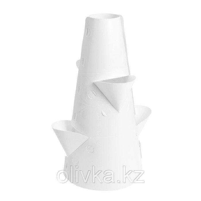 Клумба конусная, d = 10–30 см, h = 60 см, белая