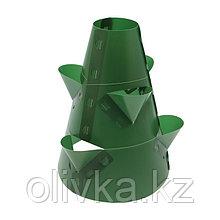 Клумба конусная, d = 15–45 см, h = 60 см, зелёная