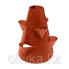 Клумба конусная, d = 15–45 см, h = 60 см, коричневая