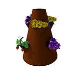 Клумба конусная, d = 15–45 см, h = 60 см, коричневая, фото 2