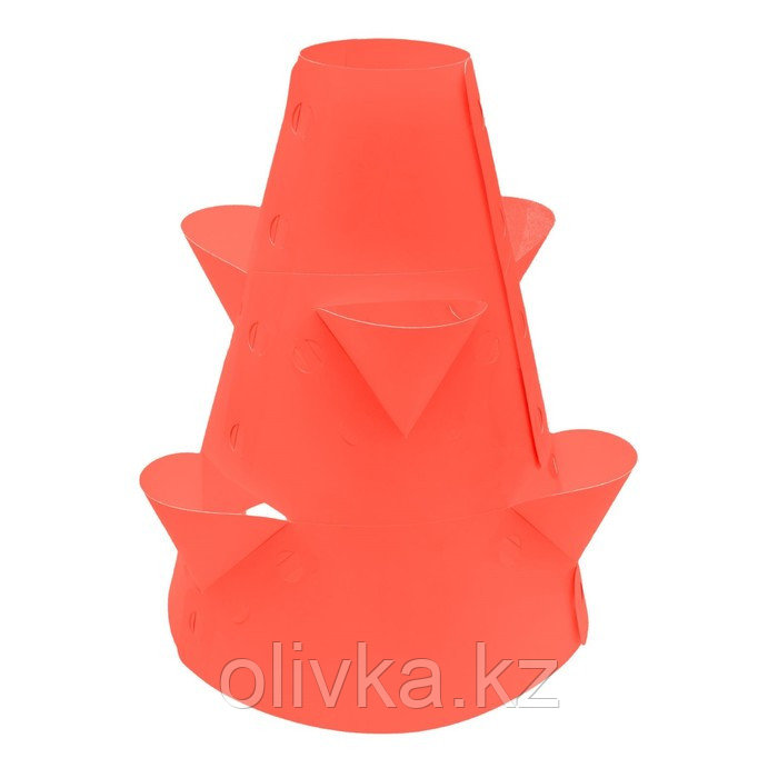 Клумба конусная, d = 15–45 см, h = 60 см, красная