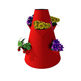 Клумба конусная, d = 15–45 см, h = 60 см, красная, фото 2