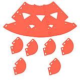 Клумба конусная, d = 15–45 см, h = 60 см, красная, фото 5