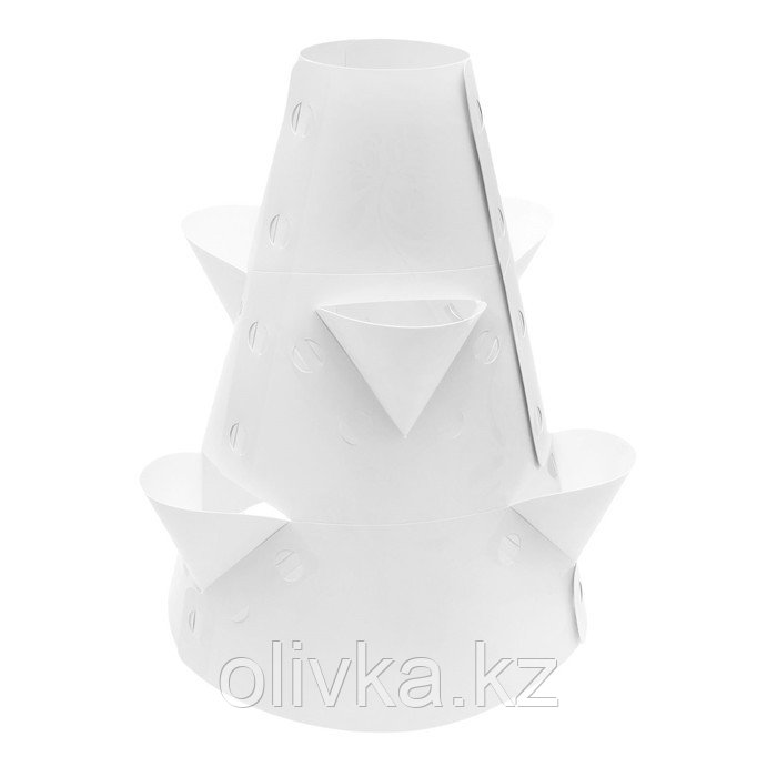 Клумба конусная, d = 15–45 см, h = 60 см, белая