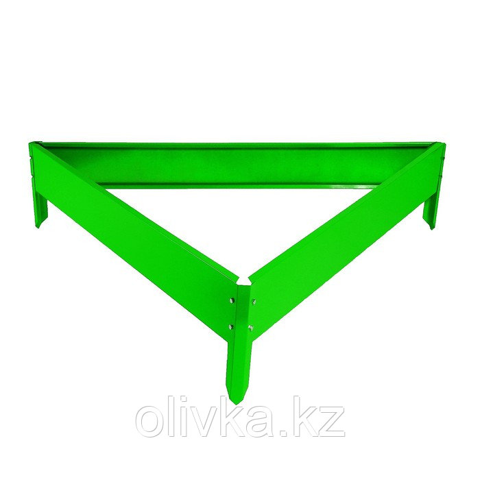 Клумба оцинкованная, 50 × 15 см, ярко-зелёная, «Терция», Greengo