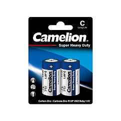 Батарейка, CAMELION, R14P-BP2B, Super Heavy Duty, C, 1.5V, mAh, 2 шт., Блистер