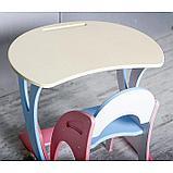 Набор мебели регулируемый «Парус «, стол, стул, цвет розово-голубой, фото 2