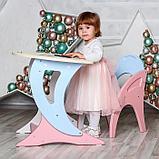Набор мебели регулируемый «Парус «, стол, стул, цвет розово-голубой, фото 4