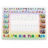 Набор мебели « Буквы-цифры», стол-парта, стул, цвет салатово-розовый, фото 2