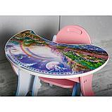 Набор мебели «Космошкола», стол-парта, стул, цвет розово-голубой, фото 2