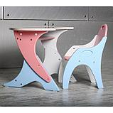Набор мебели «Космошкола», стол-парта, стул, цвет розово-голубой, фото 3