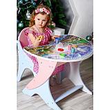 Набор мебели «Космошкола», стол-парта, стул, цвет розово-голубой, фото 5