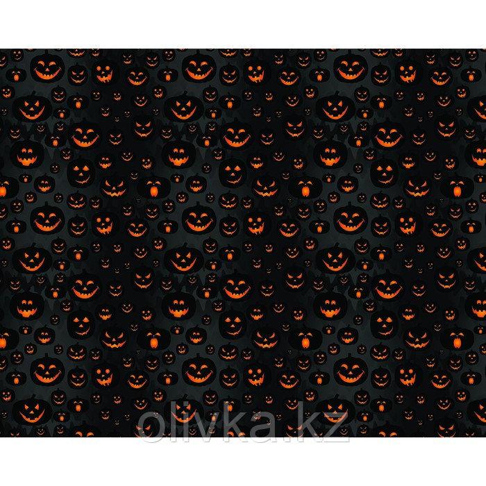Фотобаннер, 250 × 200 см, с фотопечатью, люверсы шаг 1 м, «Весёлые тыквы»