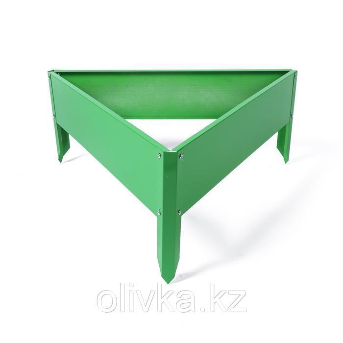Клумба оцинкованная, 70 × 15 см, ярко–зелёная, «Терция», Greengo