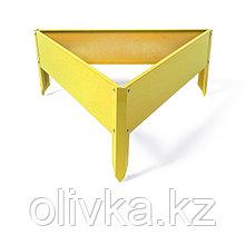 Клумба оцинкованная, 70 × 15 см, жёлтая, «Терция», Greengo