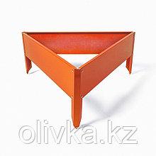 Клумба оцинкованная, 70 × 15 см, оранжевая, «Терция», Greengo