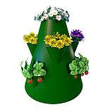 Клумба конусная, d = 20–60 см, h = 60 см, зелёная, фото 2