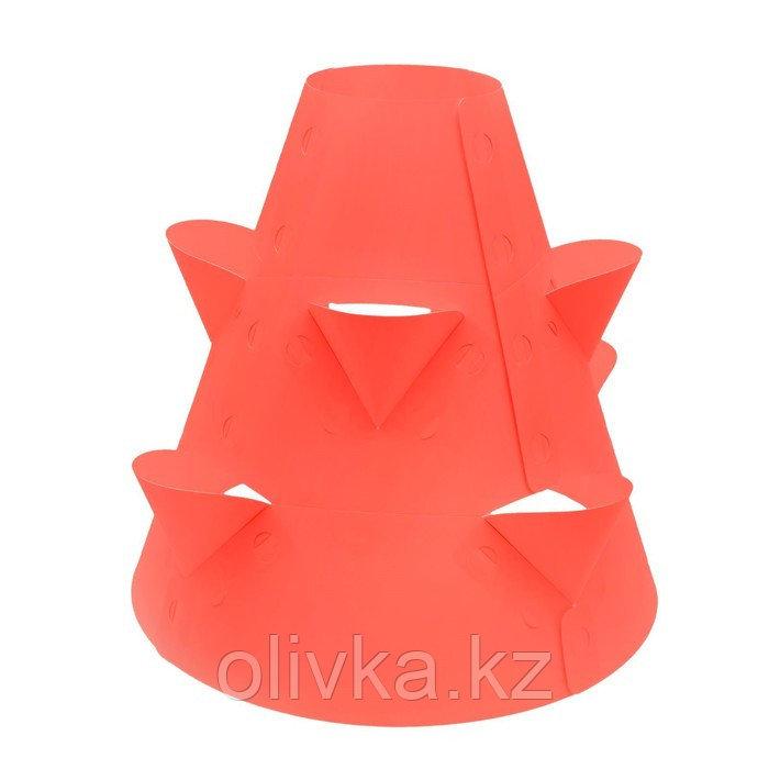 Клумба конусная, d = 20–60 см, h = 60 см, красная