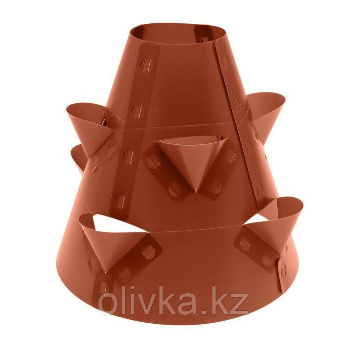 Клумба конусная, d = 20–60 см, h = 60 см, коричневая