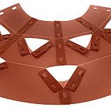 Клумба конусная, d = 20–60 см, h = 60 см, коричневая, фото 4