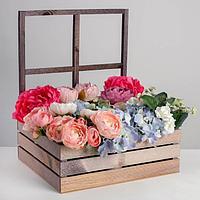 Кашпо флористическое с окном «Стиль», 35 х 30 х 42(12) см