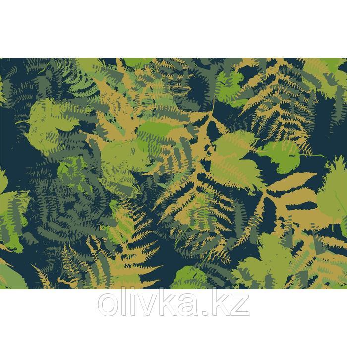 Фотобаннер, 250 × 200 см, с фотопечатью, люверсы шаг 1 м, «Камуфляж. Листья»