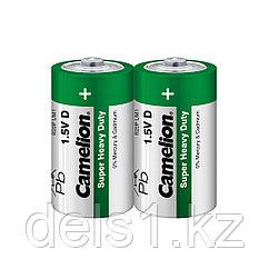 Батарейка, CAMELION, R20P-SP2G, Super Heavy Duty, D, 1.5V, mAh, 2 шт., пленка