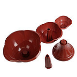 Клумба пластиковая, 3 яруса, d = 27–40–55 см, h = 90 см, коричневая, «Водопад», фото 3