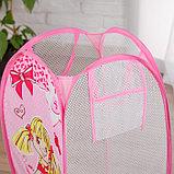 """Корзина для игрушек """"Модница"""" с ручками, цвет розовый, фото 3"""