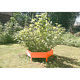 Клумба оцинкованная, d = 140 см, h = 15 см, оранжевая, Greengo, фото 3