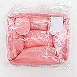 Корзина для хранения с ручками «Мишка», 20×16×14 см, цвет розовый, фото 5