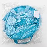 Корзина для хранения с ручками «Мишка», 20×20×15 см, цвет голубой, фото 5
