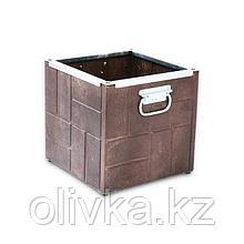 Клумба, 35 × 35 × 35 см, коричневая