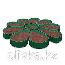 Клумба гибкая, d = 1,7 м, h = 12 см, зелёная
