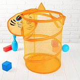 Корзина для игрушек «Тигр», с ручками и крышкой, 33 х 43 см, фото 3