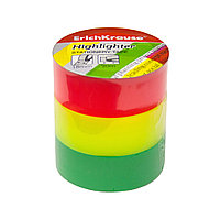 Пакет клейких лент ErichKrause® Highlighter, 18ммх20м (3 ленты)