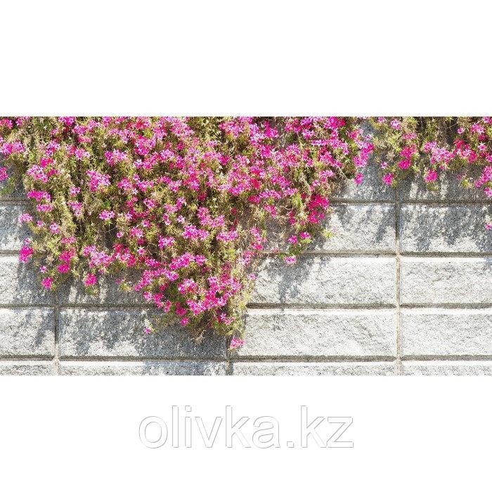 Фотобаннер, 300 × 200 см, с фотопечатью, люверсы шаг 1 м, «Стена с цветами»
