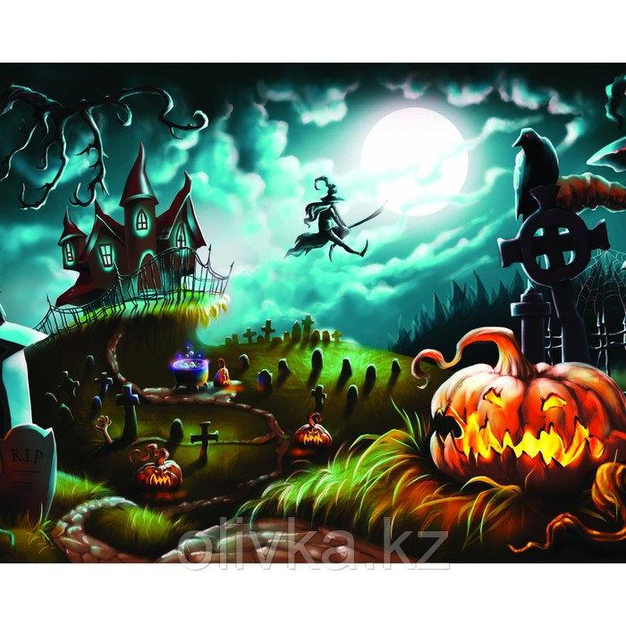 Фотобаннер, 300 × 200 см, с фотопечатью, люверсы шаг 1 м, «Ночное кладбище»