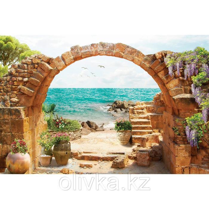 Фотобаннер, 300 × 200 см, с фотопечатью, люверсы шаг 1 м, «Выход к морю»