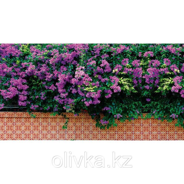 Фотобаннер, 300 × 200 см, с фотопечатью, люверсы шаг 1 м, «Фиолетовые цветы»