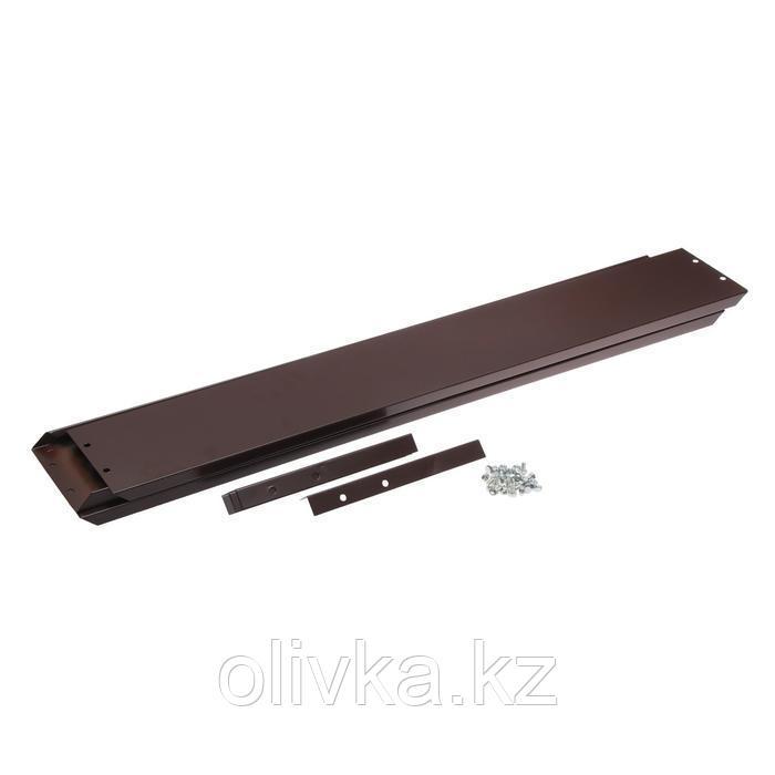 Удлинитель для грядки, 100 × 100 × 15 см, коричневый, Greengo