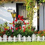 Ограждение декоративное, 25 × 170 см, 5 секций, пластик, белое, «Чудный сад», фото 6